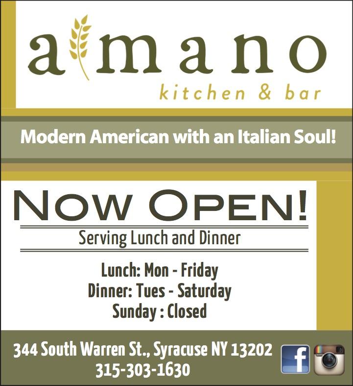 Modern Kitchen Syracuse Ny: Amano Kitchen & Bar