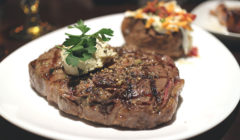 Rib Eye with Garlic Butter