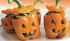 Jack-O-Lanterns Stuffed Peppers