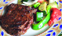 Seasoned Skirt Steak with Grilled Vegetables