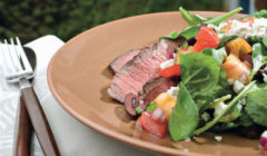 Pepper Grilled Steak With Summer Salad