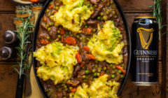Guinness Lamb Stew & Calcannon Shepherd's Pie